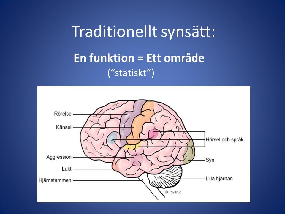 """En funktion = Ett område Traditionellt synsätt: (""""statiskt"""")"""