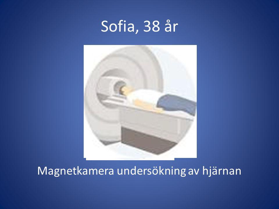 Sofia, 38 år Magnetkamera undersökning av hjärnan