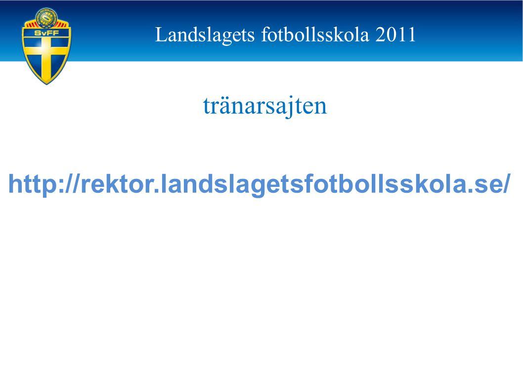 tränarsajten http://rektor.landslagetsfotbollsskola.se/ Landslagets fotbollsskola 2011
