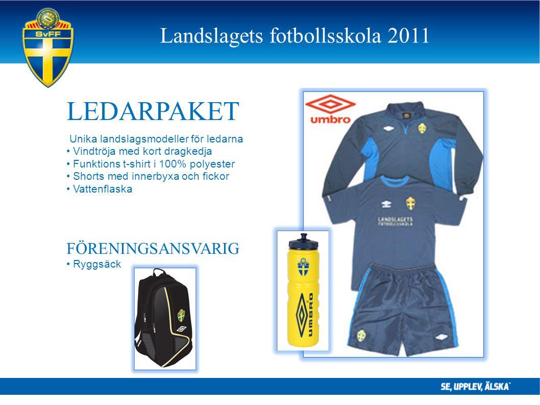 LEDARPAKET Unika landslagsmodeller för ledarna Vindtröja med kort dragkedja Funktions t-shirt i 100% polyester Shorts med innerbyxa och fickor Vattenf