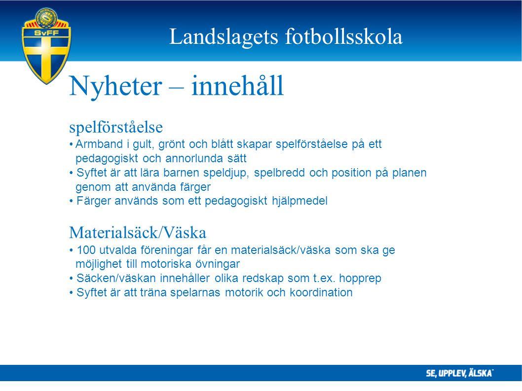 Landslagets fotbollsskola Nyheter – innehåll spelförståelse Armband i gult, grönt och blått skapar spelförståelse på ett pedagogiskt och annorlunda sä