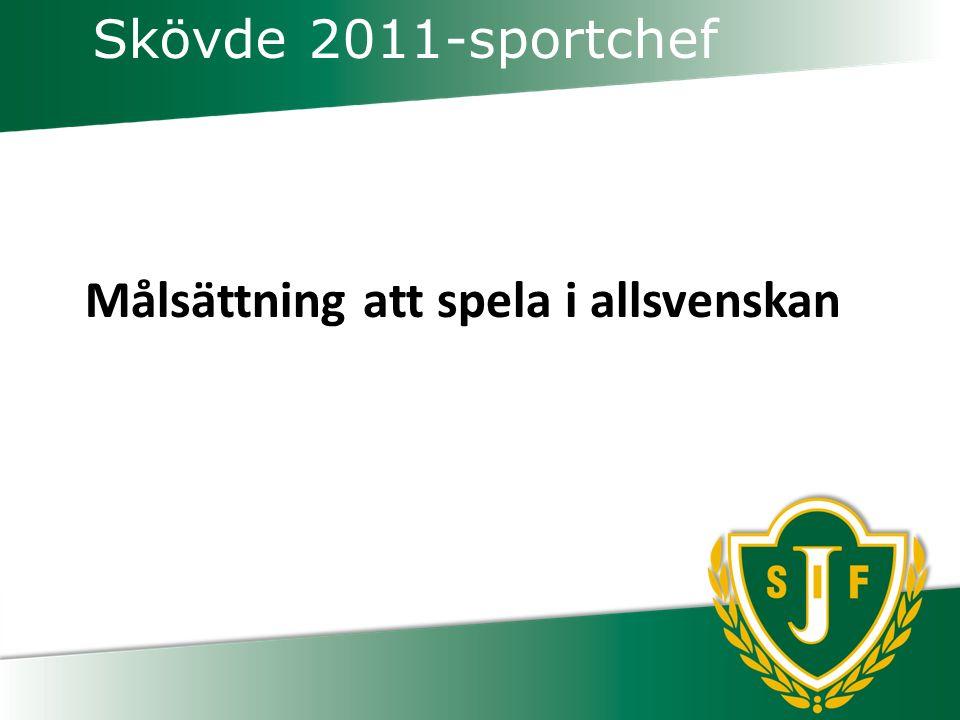 Skövde 2011-sportchef Målsättning att spela i allsvenskan