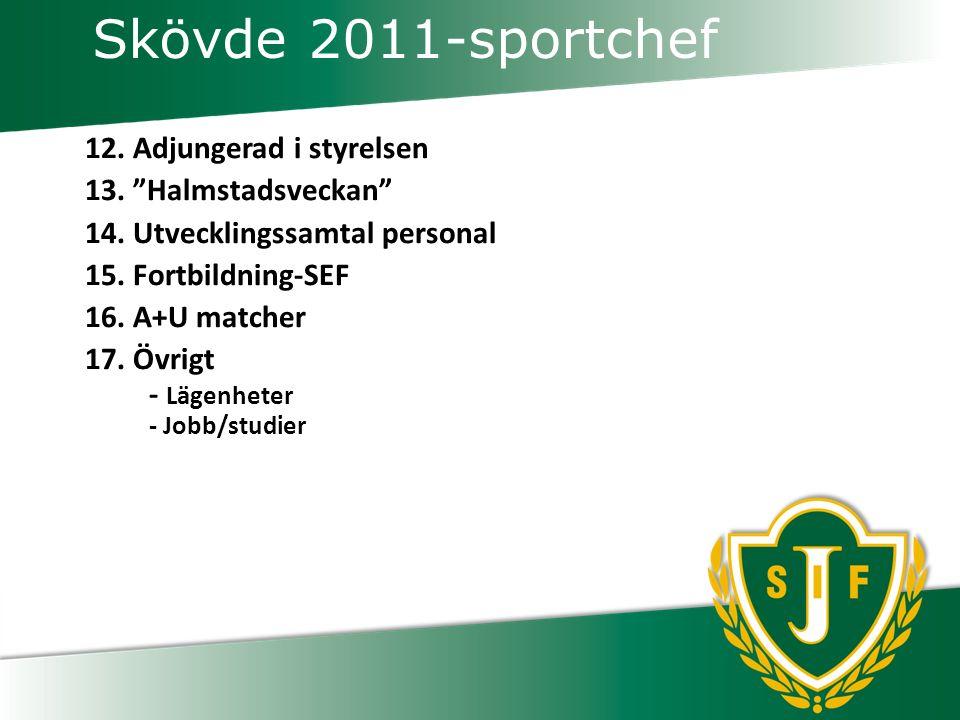 Skövde 2011-sportchef 12.Adjungerad i styrelsen 13.