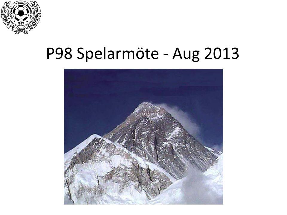 P98 Spelarmöte - Aug 2013