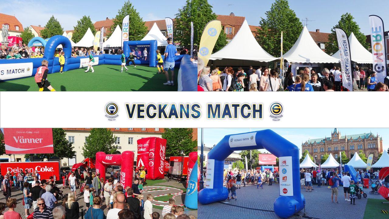 Bakgrund Öka intresset för din klubb och svensk fotboll Veckans Match Målgrupp Barnfamiljer (barn upp till 16 år) Upplägg Antal event är 32 st.