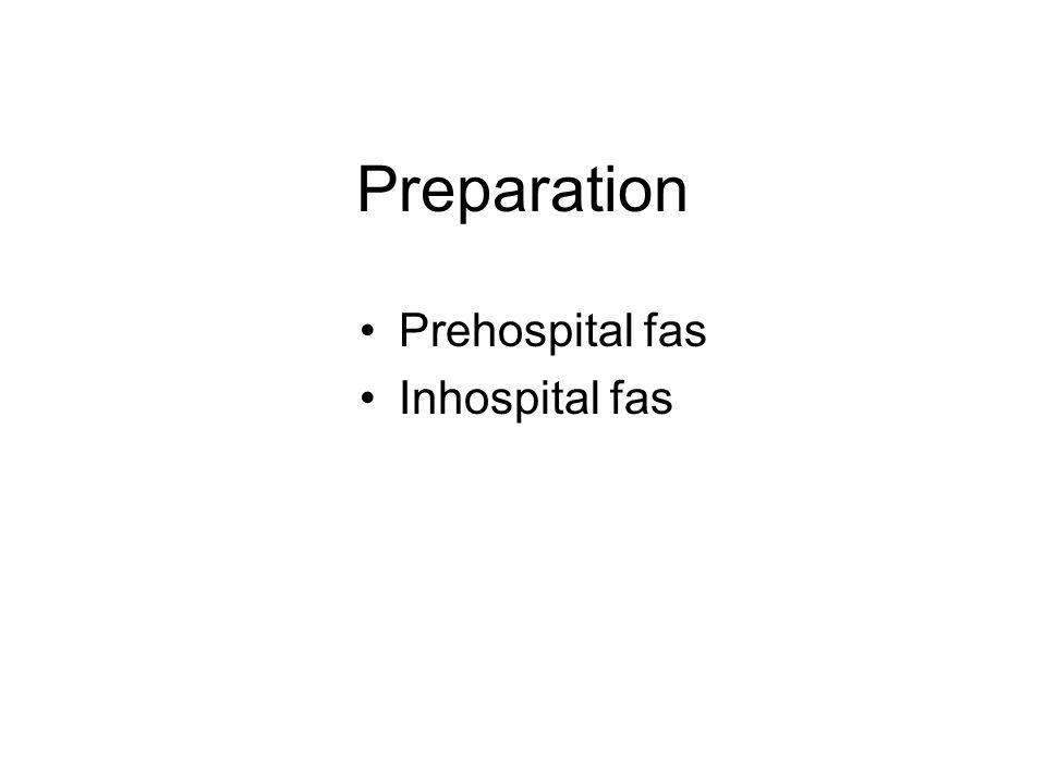 Preparation Prehospital fas Inhospital fas
