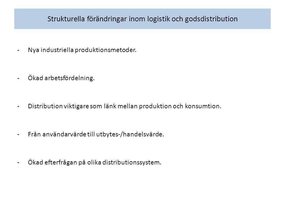 Strukturella förändringar inom logistik och godsdistribution -Nya industriella produktionsmetoder.