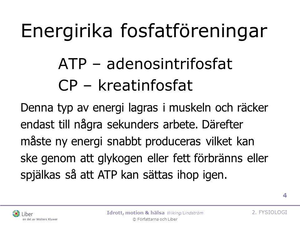 Idrott, motion & hälsa Wiking/Lindström © Författarna och Liber 2.