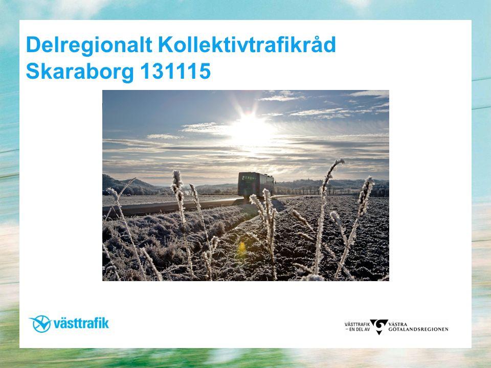 Delregionalt Kollektivtrafikråd Skaraborg 131115