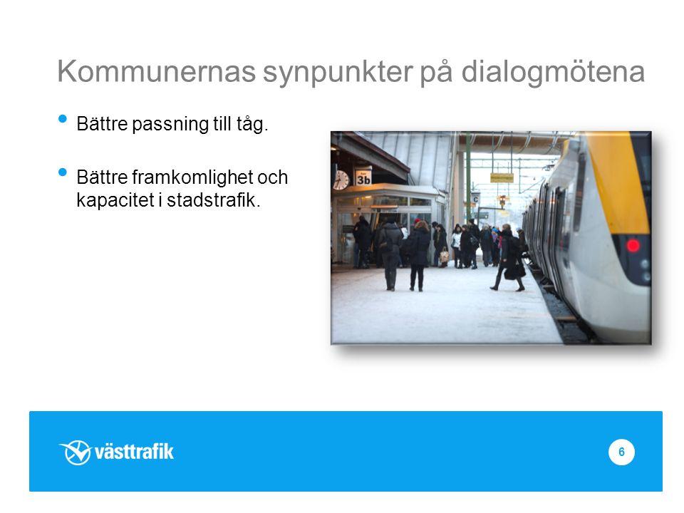 Kommunernas synpunkter på dialogmötena Bättre passning till tåg.
