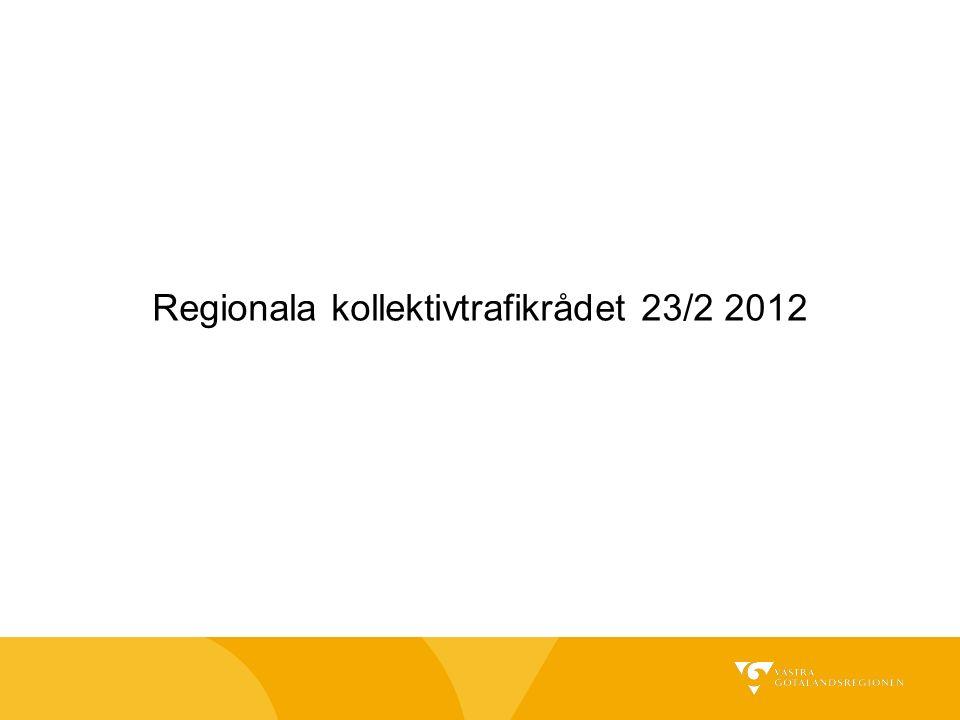 Regionala kollektivtrafikrådet 23/2 2012
