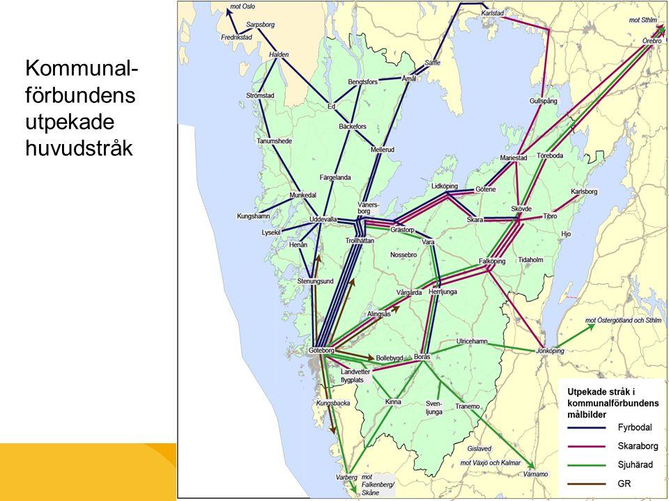 Kommunal- förbundens utpekade huvudstråk