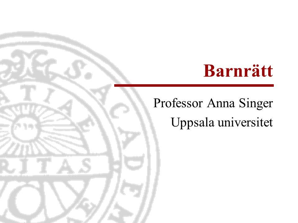 Barnrätt Professor Anna Singer Uppsala universitet