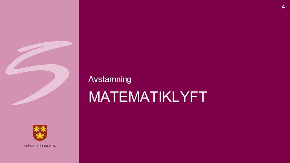 MATEMATIKLYFT Avstämning 4