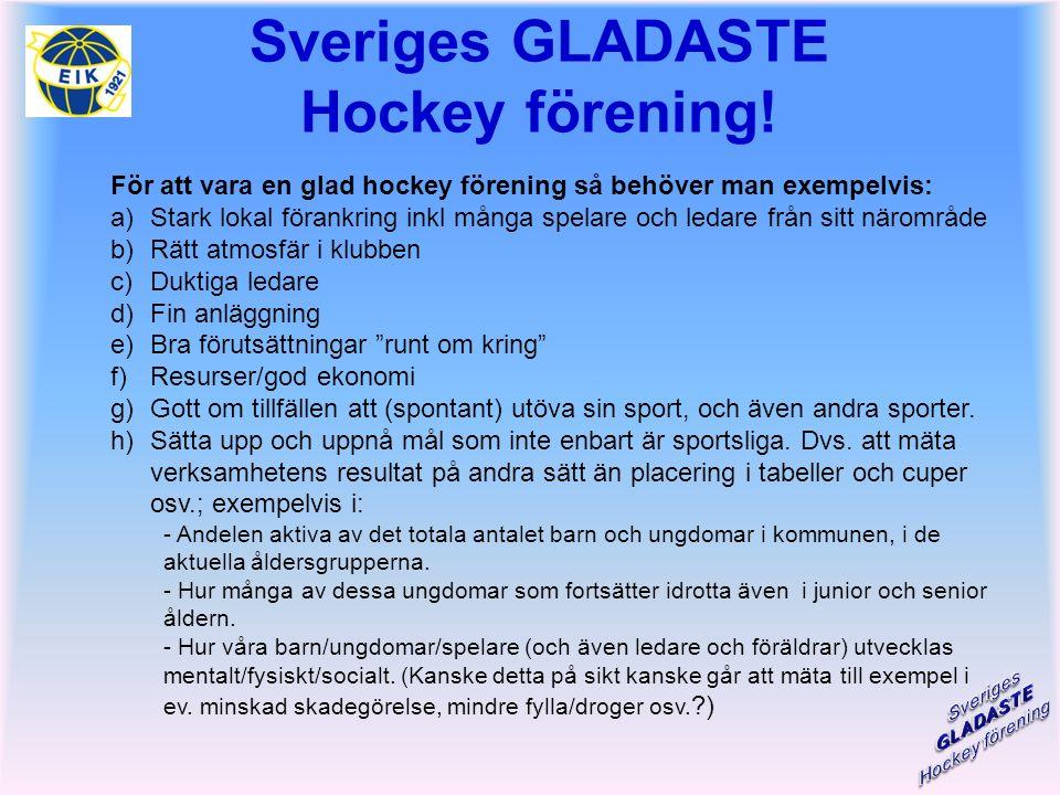 Sveriges GLADASTE Hockey förening.