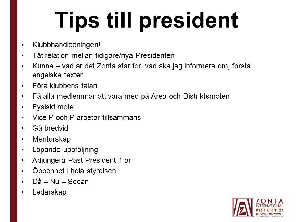 Tips till president Klubbhandledningen.