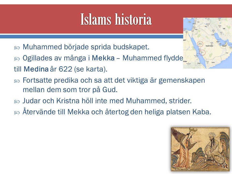  Muhammed började sprida budskapet.