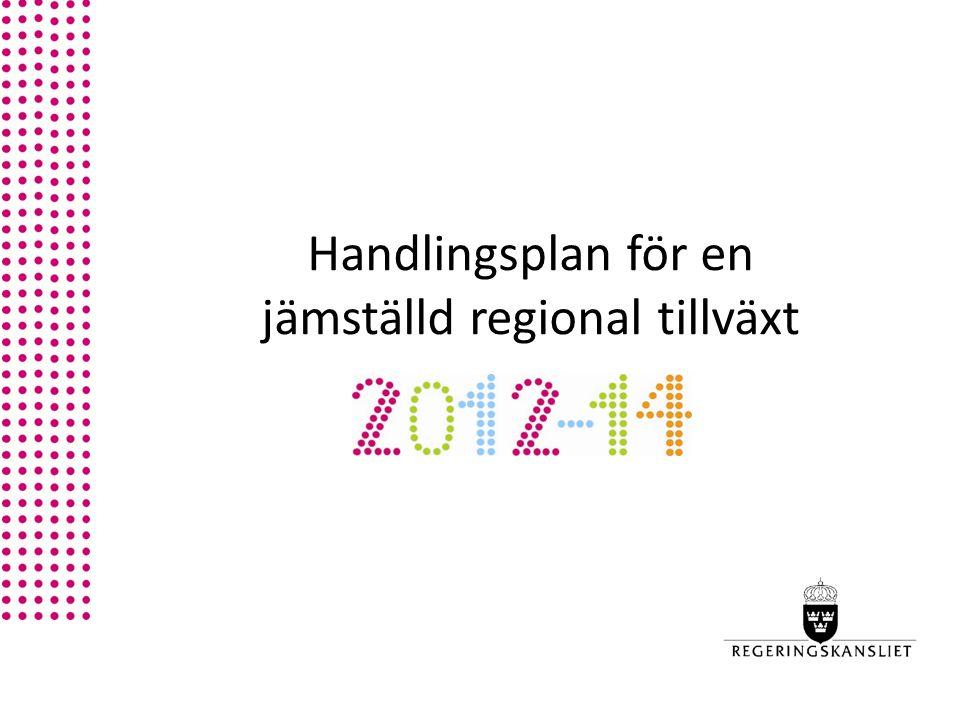 Handlingsplan för en jämställd regional tillväxt