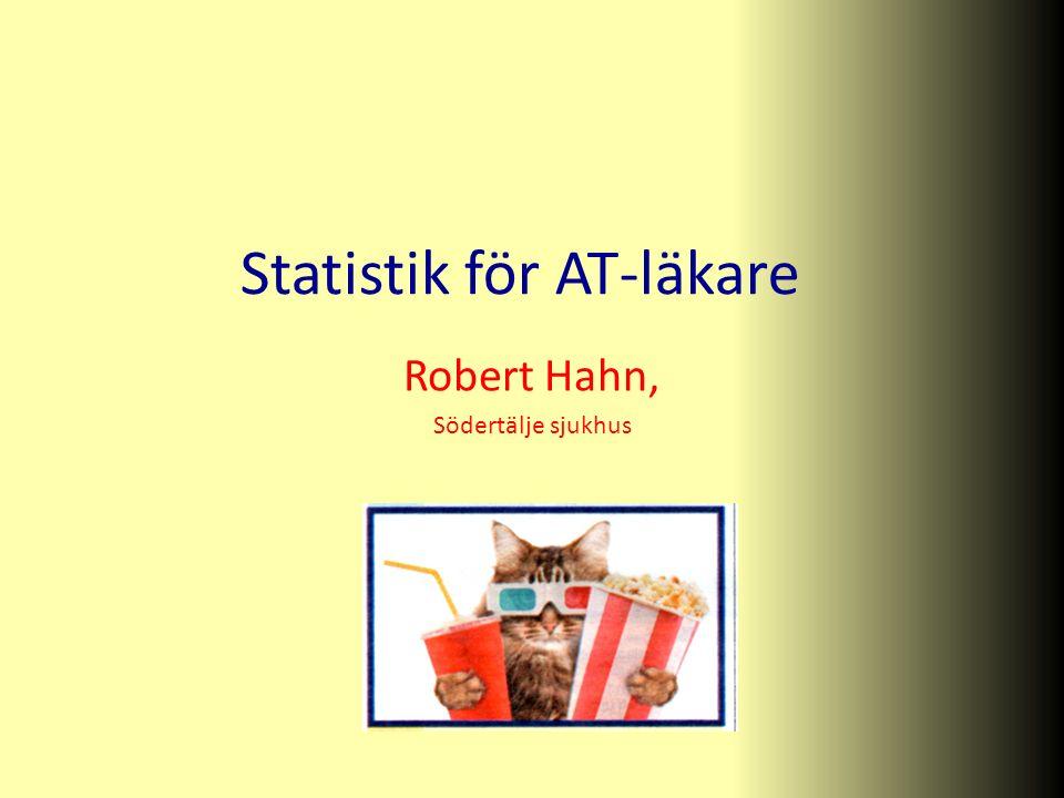 Statistik för AT-läkare Robert Hahn, Södertälje sjukhus