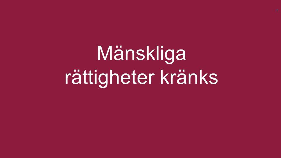 Svenska Afghanistankommittén | www.sak.se Mänskliga rättigheter kränks 17