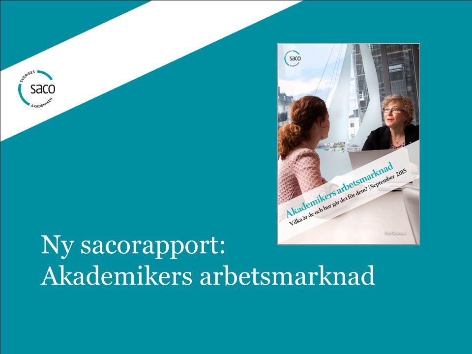 Ny sacorapport: Akademikers arbetsmarknad