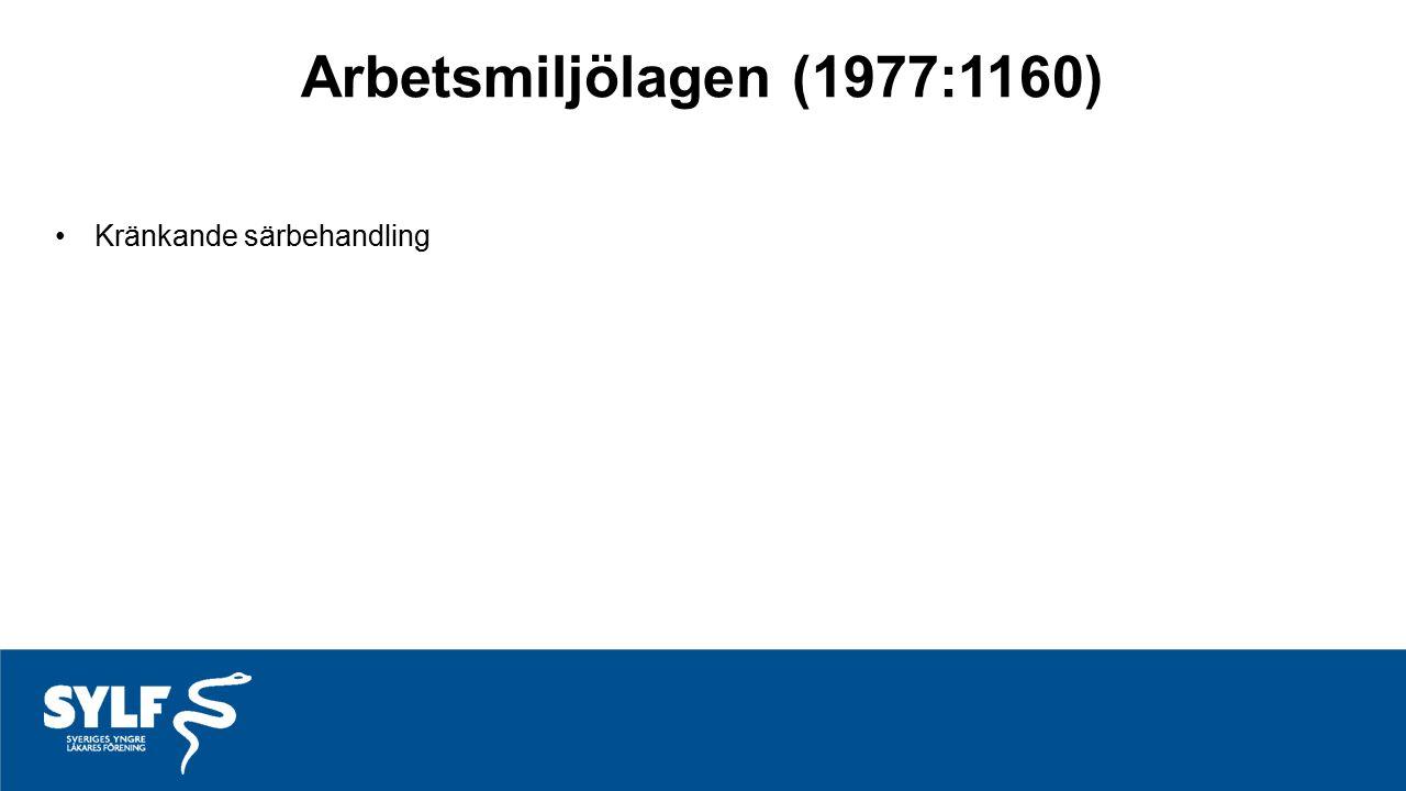 Arbetsmiljölagen (1977:1160) Kränkande särbehandling