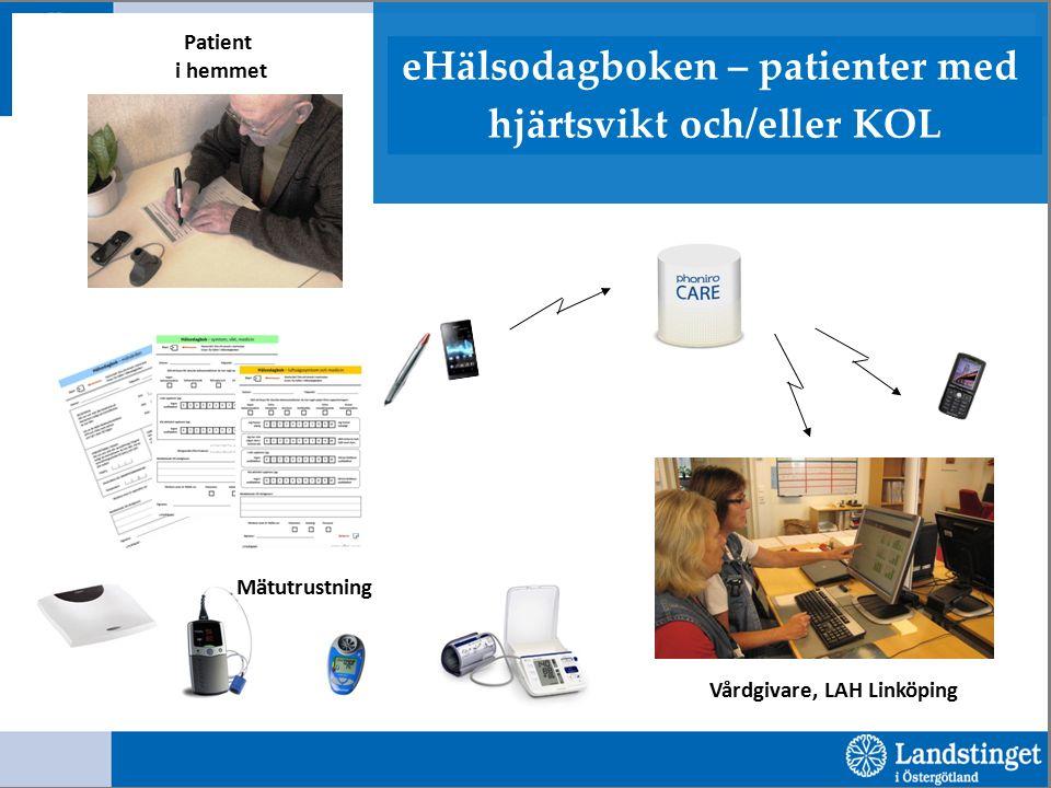 Vårdgivare, LAH Linköping Patient i hemmet Mätutrustning eHälsodagboken – patienter med hjärtsvikt och/eller KOL