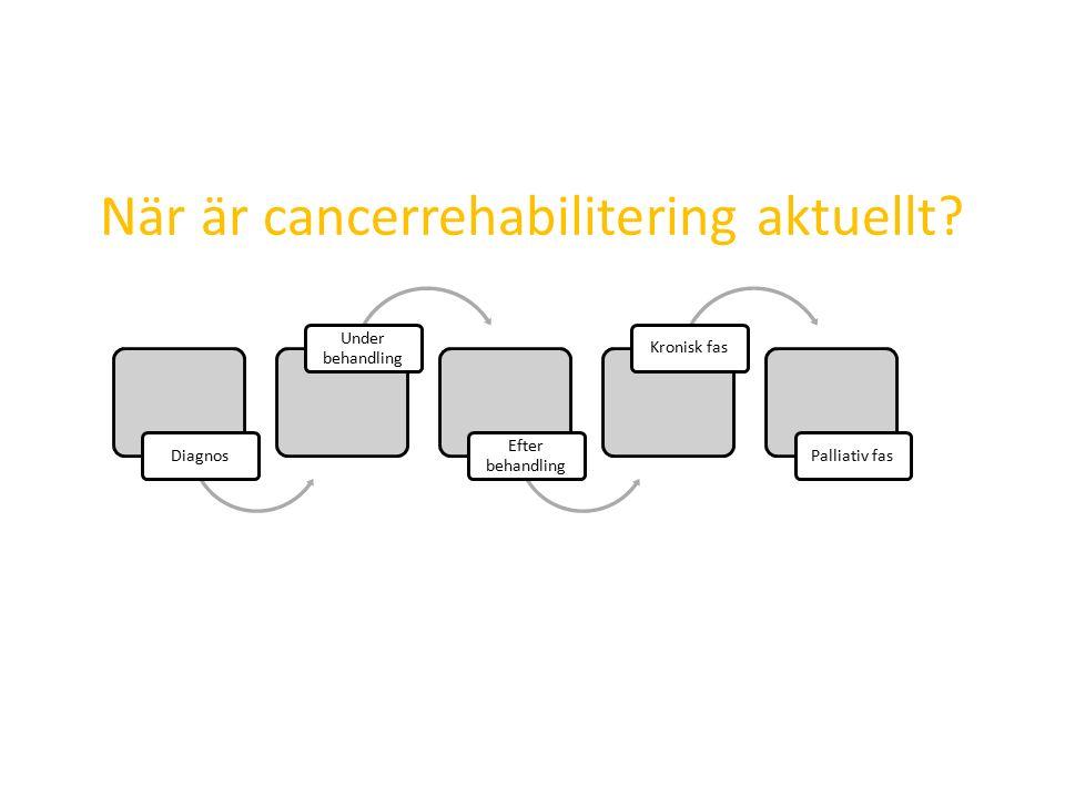 När är cancerrehabilitering aktuellt.