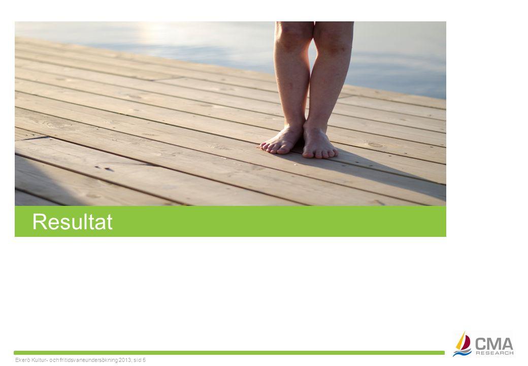 Ekerö Kultur- och fritidsvaneundersökning 2013, sid 5 Resultat