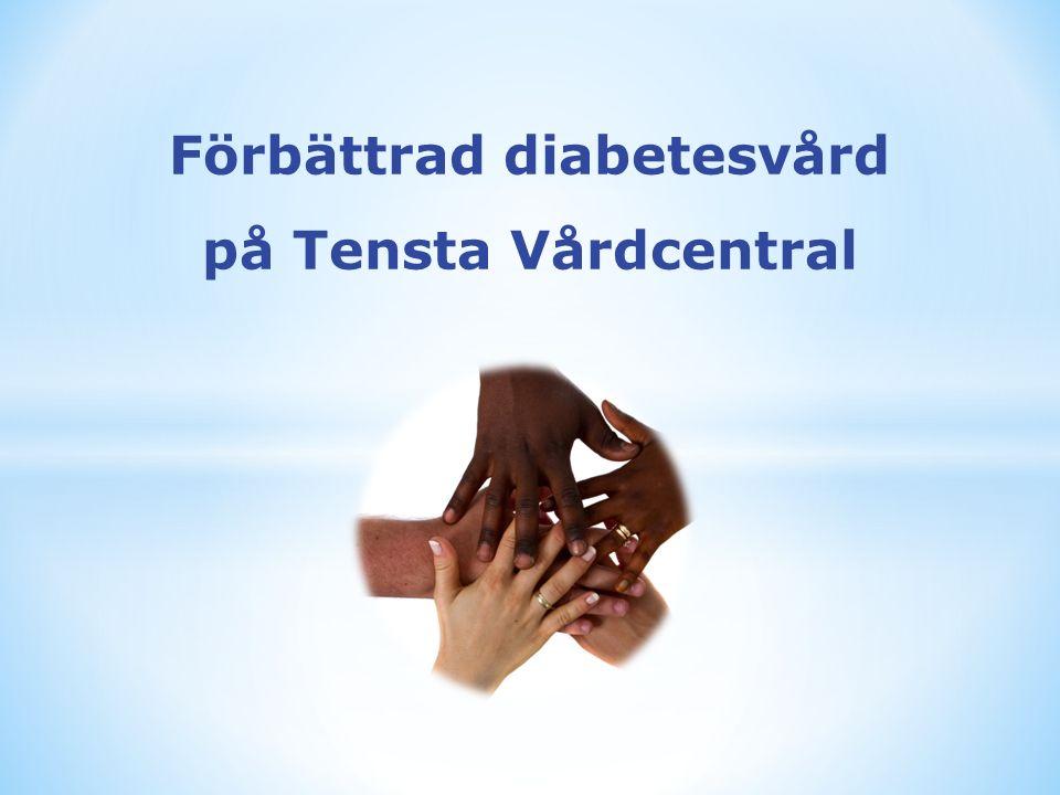 Förbättrad diabetesvård på Tensta Vårdcentral