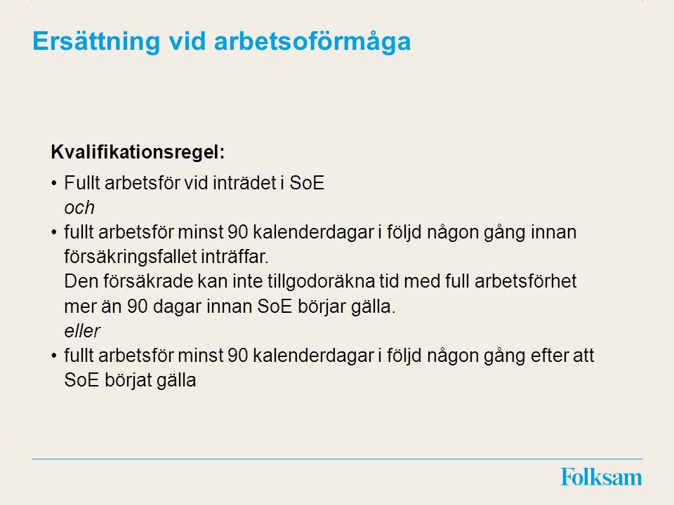 Innehållsyta Rubrikyta Ersättning vid vissa diagnoser Diagnos på grund av allvarlig sjukdom eller olycksfallsskada fastställd/verifierad av specialistläkare i Sverige eller vid en specialistavdelning i Sverige.