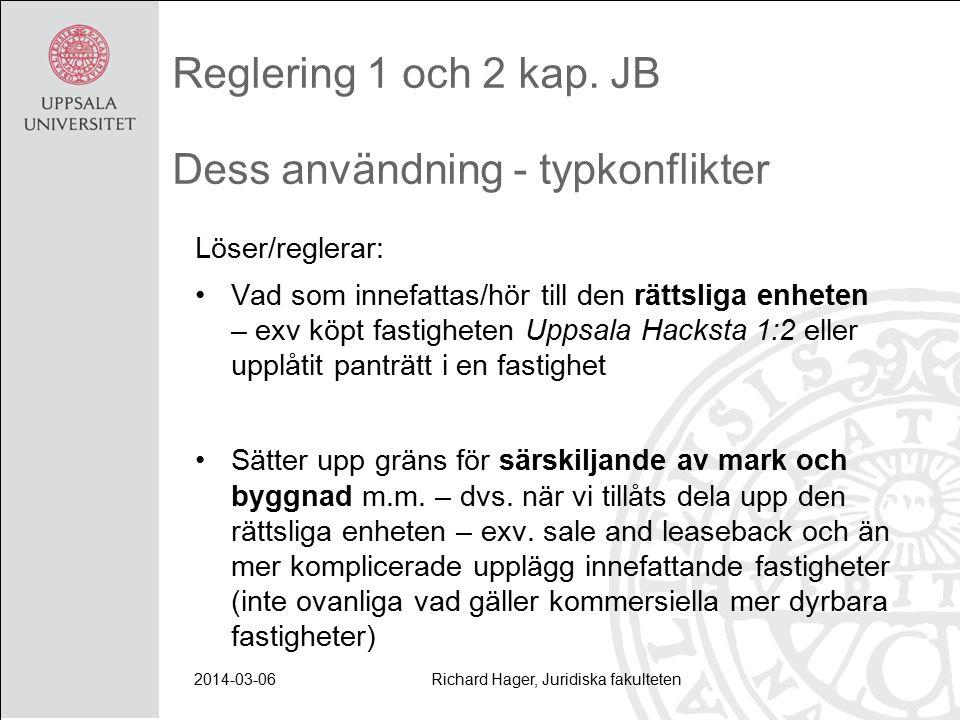 2014-03-06Richard Hager, Juridiska fakulteten Reglering 1 och 2 kap.