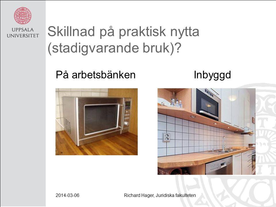 2014-03-06Richard Hager, Juridiska fakulteten Skillnad på praktisk nytta (stadigvarande bruk).