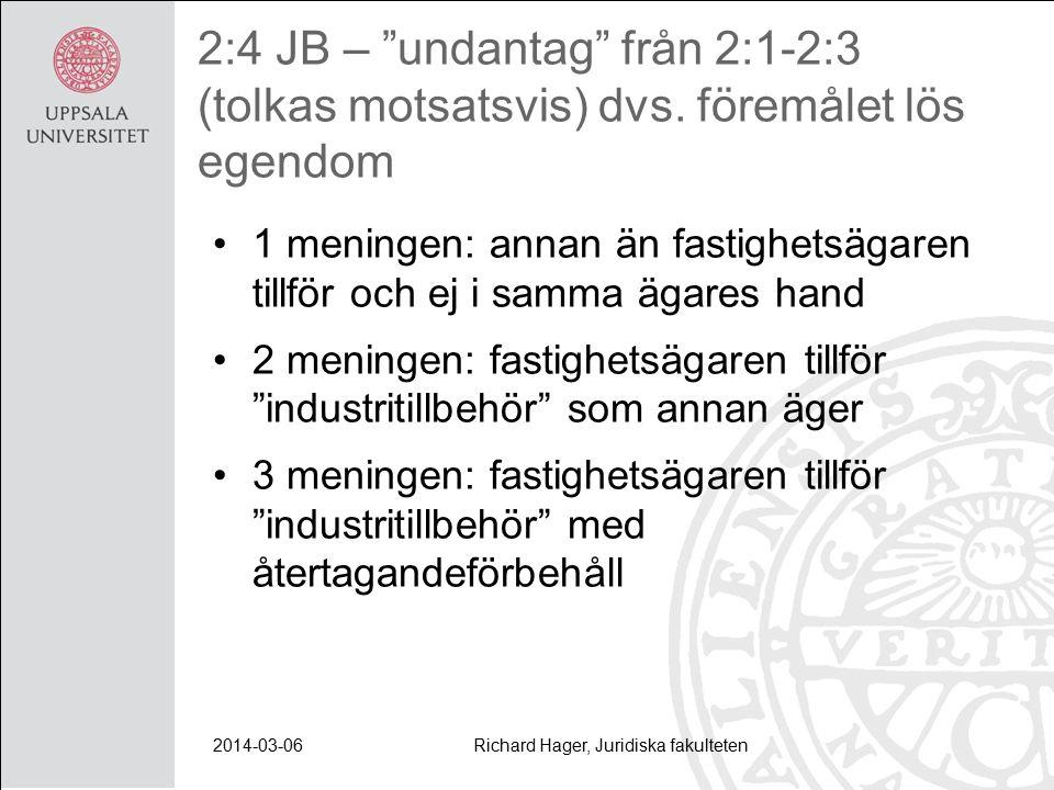 2:4 JB – undantag från 2:1-2:3 (tolkas motsatsvis) dvs.