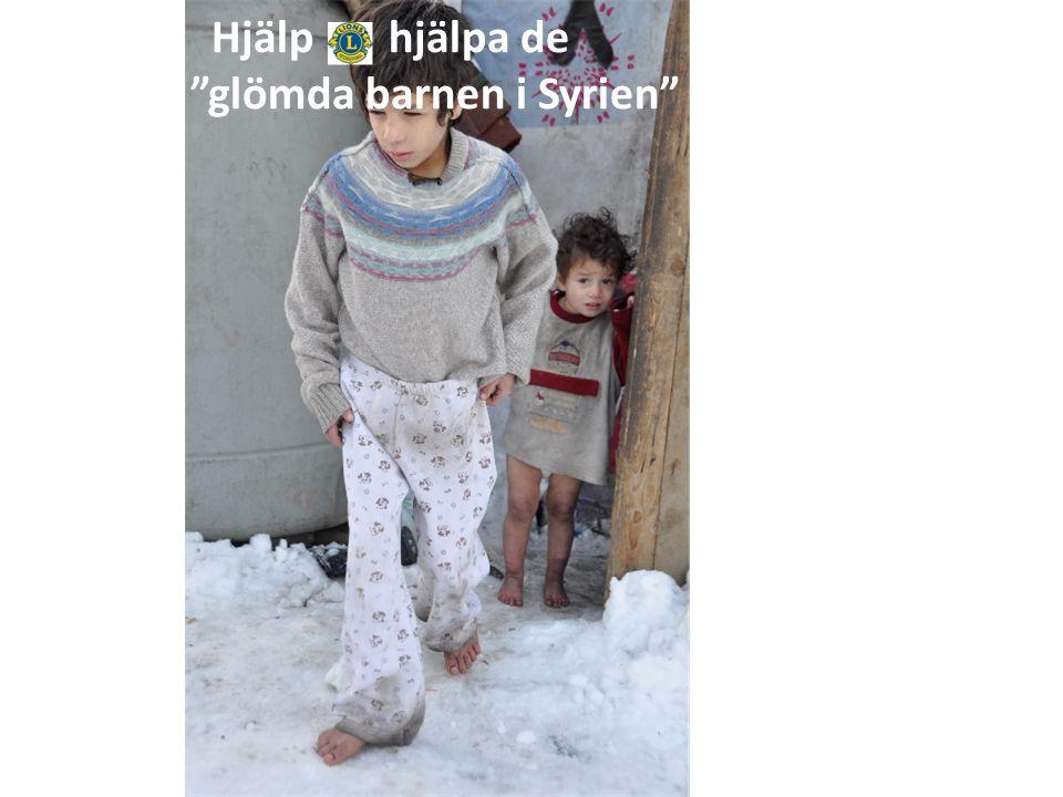 """Hjälp hjälpa de """"glömda barnen i Syrien"""""""