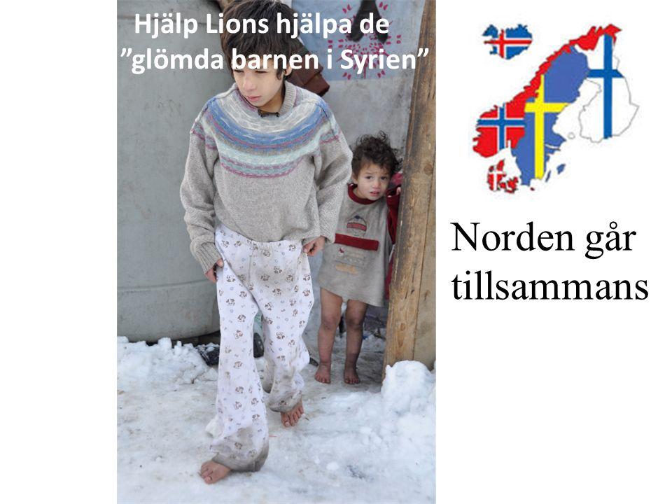 """Hjälp Lions hjälpa de """"glömda barnen i Syrien"""" Norden går tillsammans"""