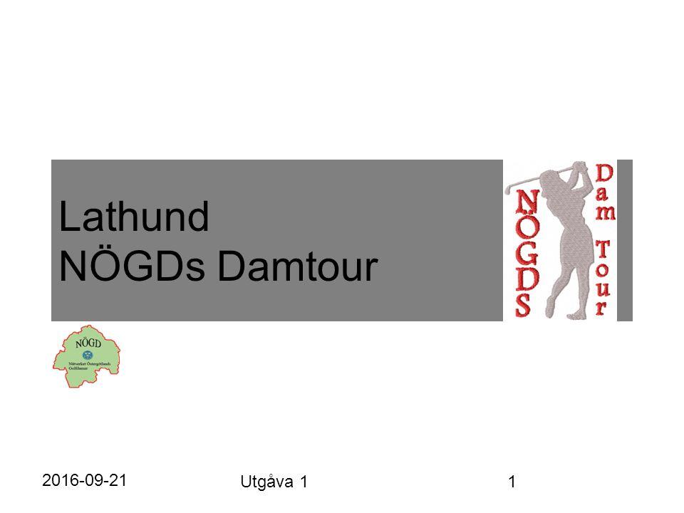 Lathund NÖGDs Damtour 2016-09-21 Utgåva 1 1