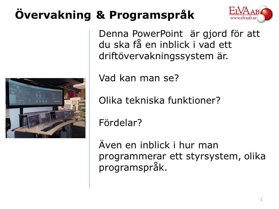 Denna PowerPoint är gjord för att du ska få en inblick i vad ett driftövervakningssystem är. Vad kan man se? Olika tekniska funktioner? Fördelar? Även