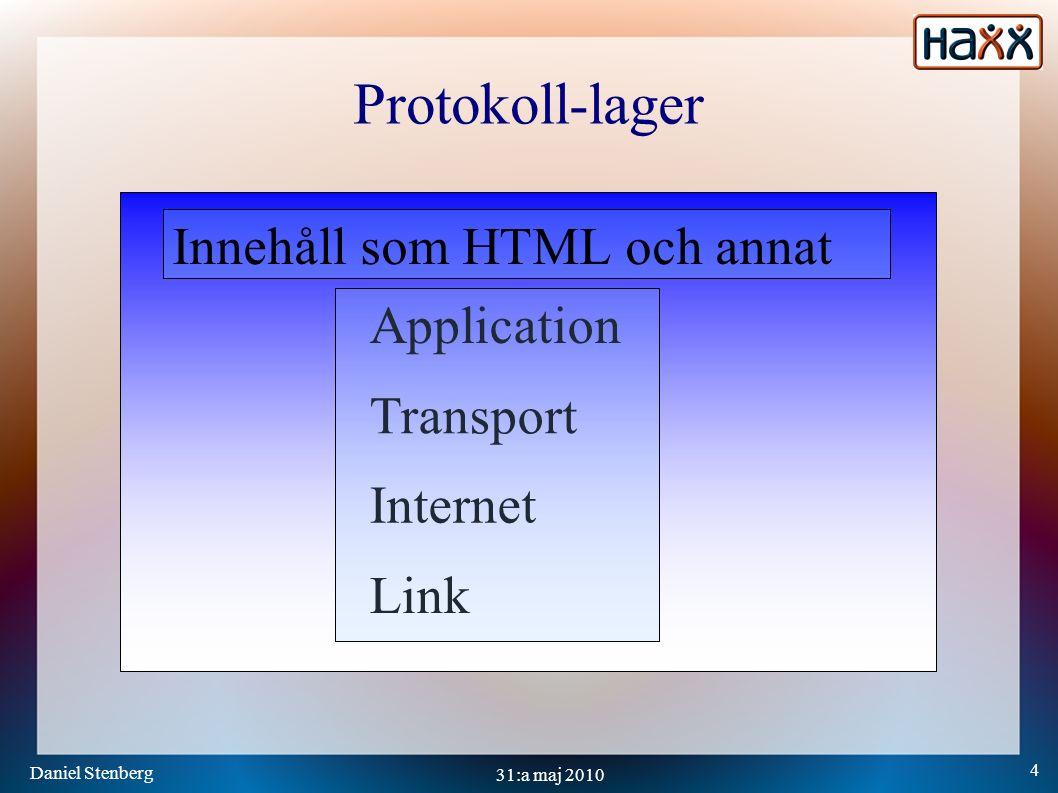 Daniel Stenberg 35 31:a maj 2010 MPTCP två koppel