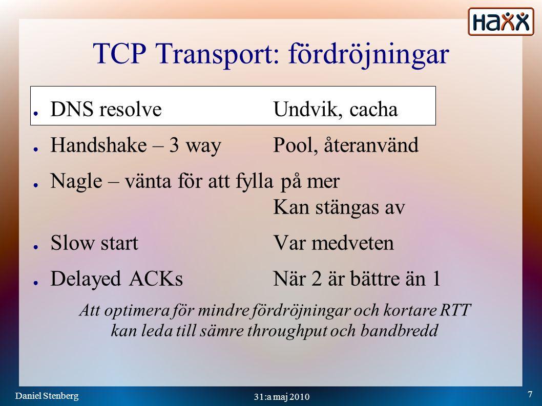 Daniel Stenberg 28 31:a maj 2010 Framtiden ● WebSockets ● SPDY ● SCTP ● MPTCP ●...