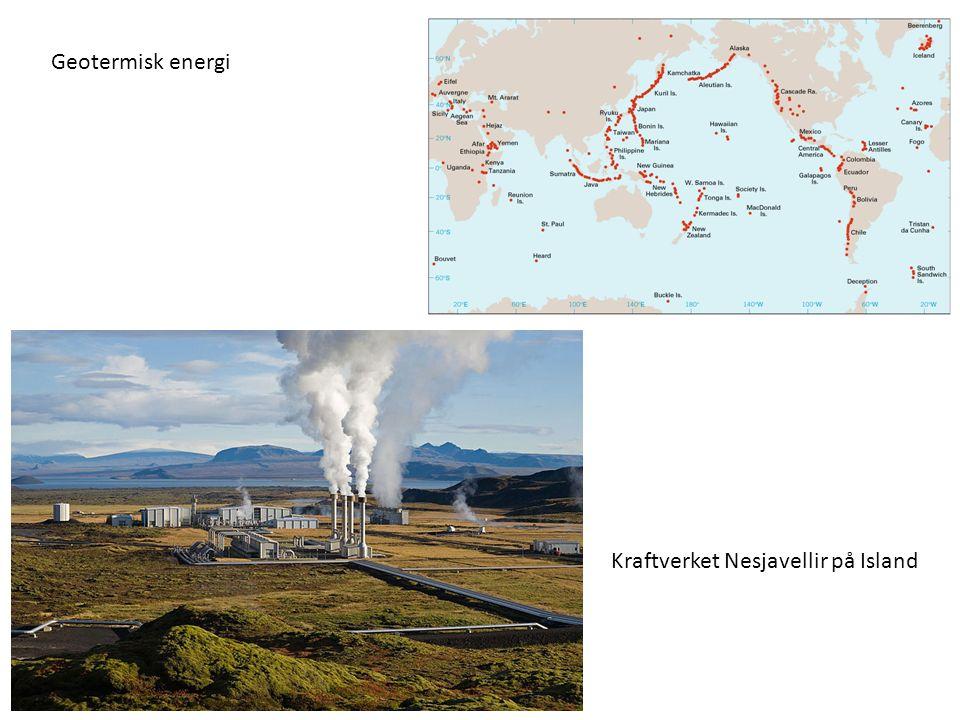 Kraftverket Nesjavellir på Island Geotermisk energi