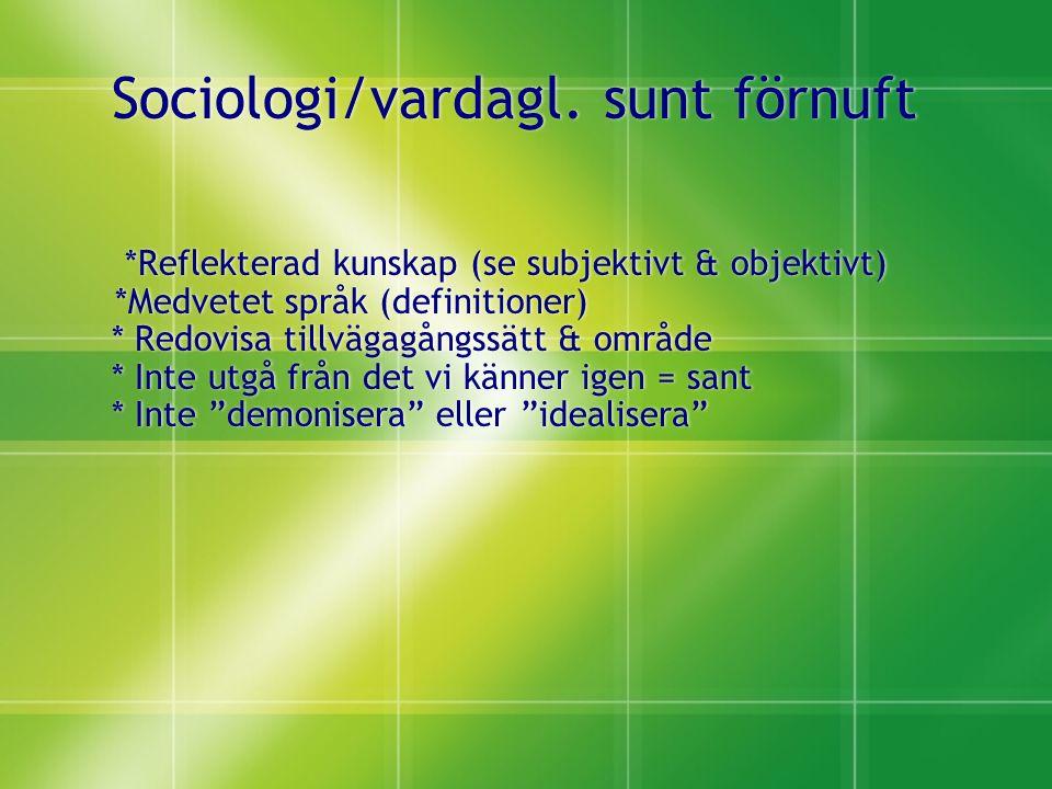 Sociologi/vardagl.