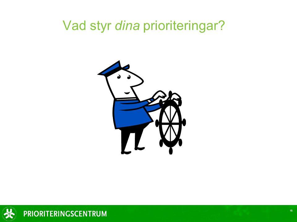 Vad styr dina prioriteringar? 15