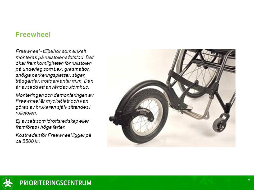 Freewheel Freewheel - tillbehör som enkelt monteras på rullstolens fotstöd.