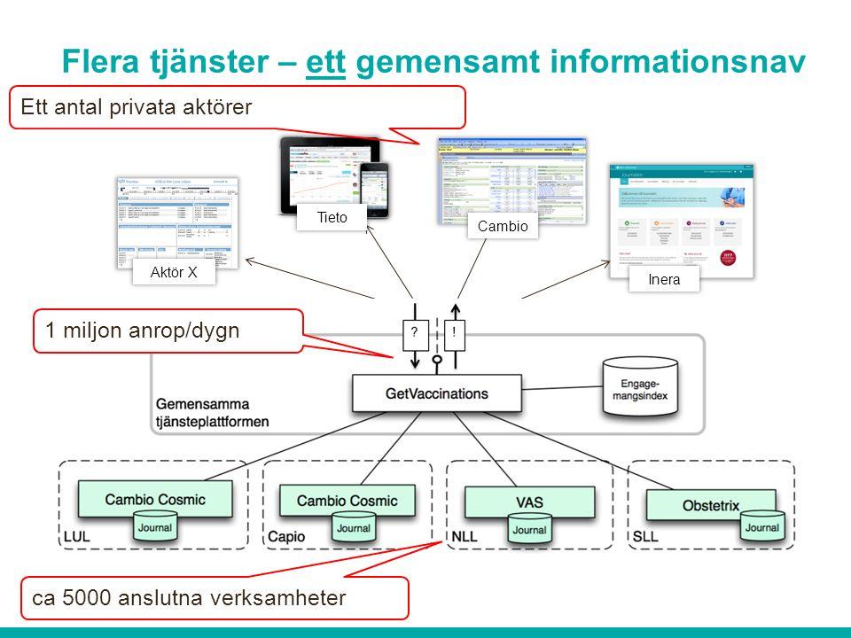 Flera tjänster – ett gemensamt informationsnav .