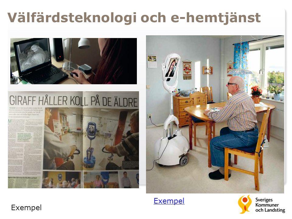 Välfärdsteknologi och e-hemtjänst Exempel