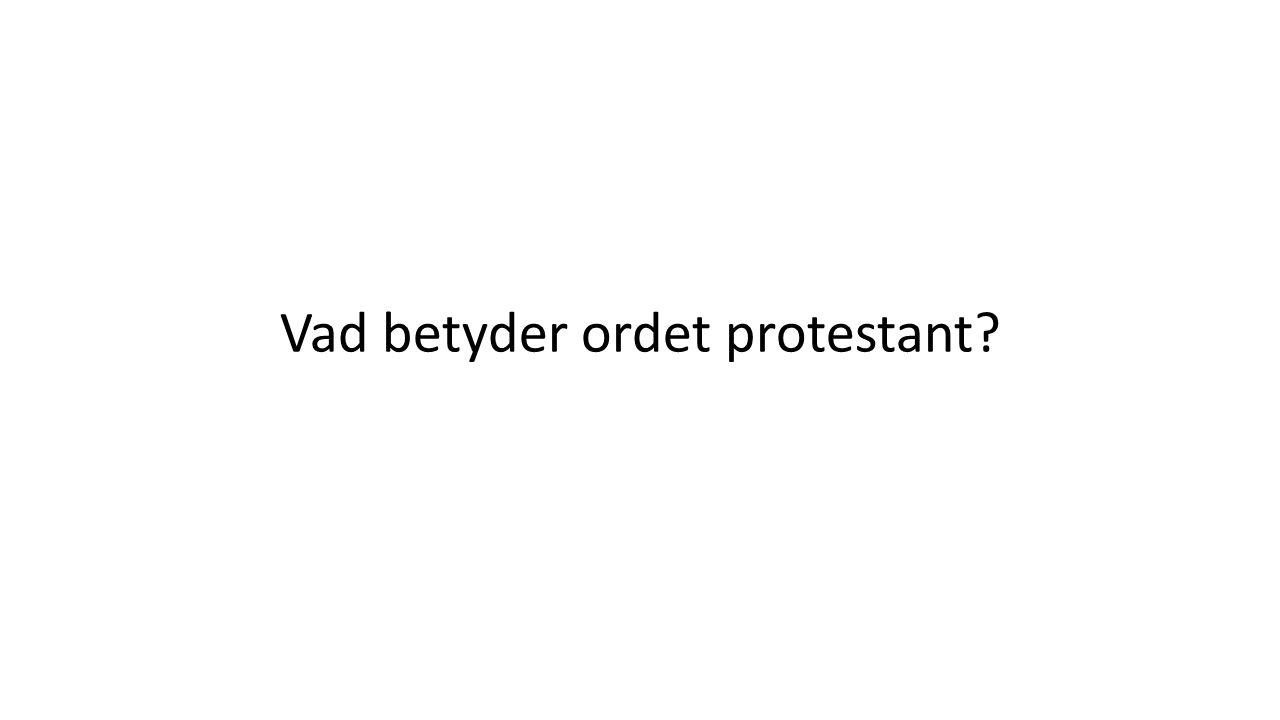 Vad betyder ordet protestant