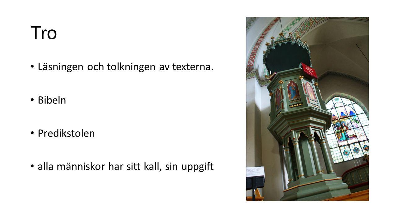 Tro Läsningen och tolkningen av texterna.