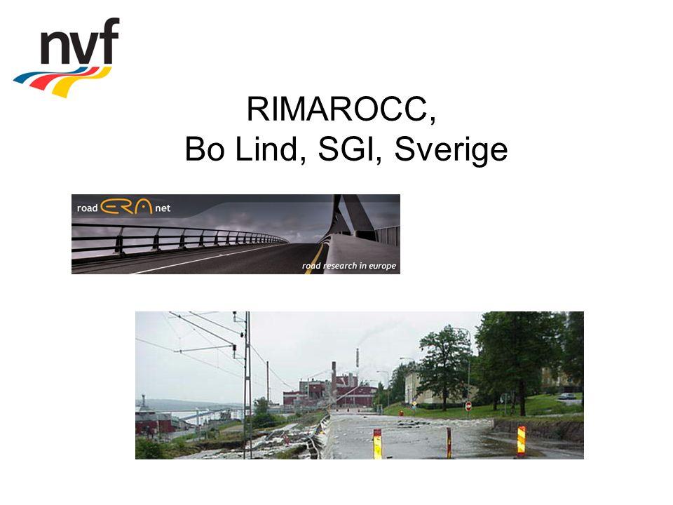 RIMAROCC, Bo Lind, SGI, Sverige