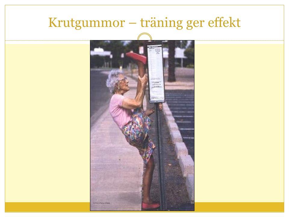 Krutgummor – träning ger effekt